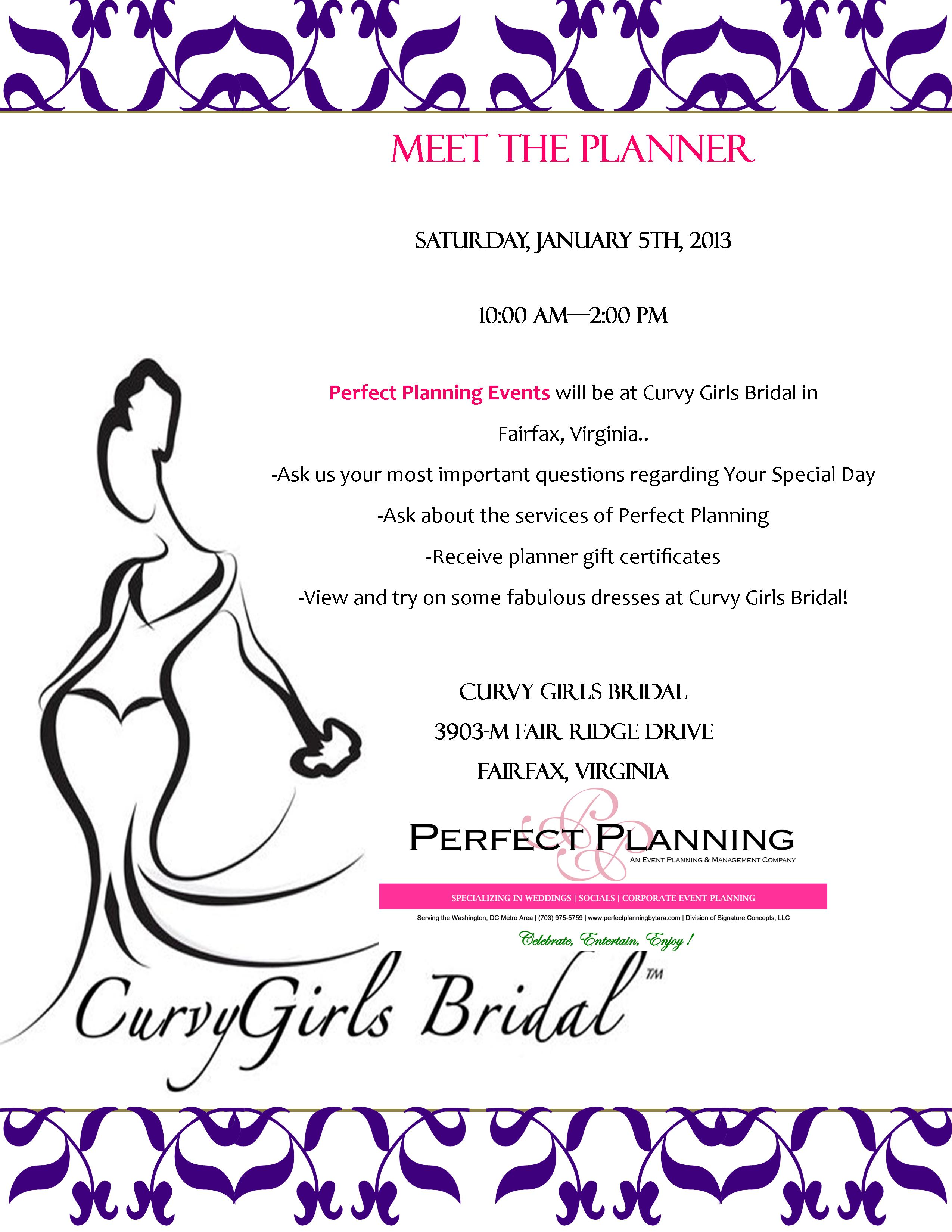 "Come See Us…Saturday, January 5th…""Ask the Planner Day"""